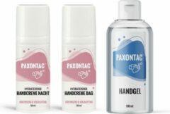 Paxontac Handgel + Handcrèmes dag en nacht: met natuurlijke ingrediënten en 30% meer hydratatie door toegevoegde AQUAXYL™ formule