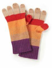 Handschoenen van 100% kasjmier met ribcord Van Peter Hahn Cashmere rood
