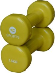 Gele RS Sports Vinyl dumbells 2 x 1.5 kg