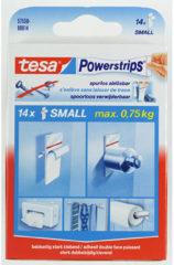 Witte Tesa - 57550 - Powerstrips - Dubbelzijdige Kleefstrips Small - 14 Stuks