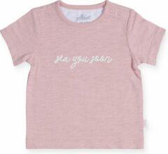 Roze Jollein Meisjes Shirt - Octopus pink - Maat 62/68