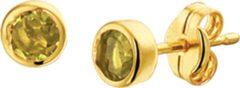 Goudkleurige The Jewelry Collection Oorknoppen Peridot - Geelgoud
