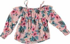 Retour soepele roze off shoulder blouse - Maat 176