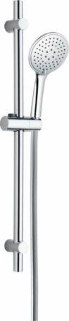 Afbeelding van Zilveren 4bathroomz Flat Design Douche Glijstangset - 3 Standen Douche - Chroom
