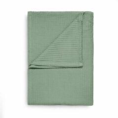 Heckett & Lane Wafel Bedsprei Deken - Granite groen 180x260cm