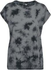 Urban Classics Ladies Batic Extended Shoulder Tee Maglia donna grigio/nero