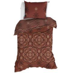 Satin d'Or Burletto dekbedovertrek - 100% katoen-satijn - 1-persoons (140x200/220 cm + 1 sloop) - Mokka