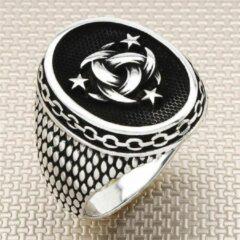 Zilveren heren ring Zijou design - 19.00 mm / maat 60