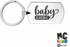 Zilveren MC Living Sleutelhanger RVS - Baby Loading