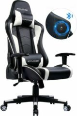 GTPLAYER Bobby's Gamingstoel Met Luidspreker - Muziekaudio - Bluetooth - Game Stoelen - Bureaustoel - Voor Volwassenen - Ergonomisch - Gaming Chair - Zwart - Wit