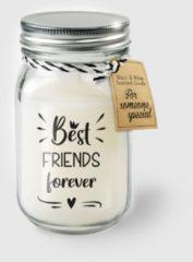 Witte Paper dreams Black & White geurkaars - Best friends
