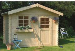 Solid tuinhuis 'Sologne' geïmpregneerd hout 7,53 m²