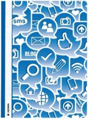 Opbergmappen Herma A4 Social Icons blauw