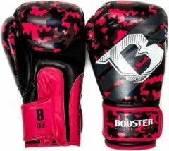 Booster Junior (kick)bokshandschoenen Camo Zwart/Roze 8oz