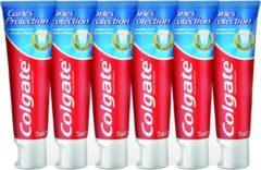 Colgate Caries Protection Tandpasta - 6 x 75ml - Voordeelverpakking