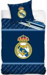Real Madrid CF Real Madrid Dekbedovertrek Logo - Eenpersoons - 140 x 200 cm - Blauw