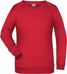 James & Nicholson James And Nicholson Dames/dames Basic Sweatshirt (Rood)
