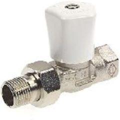 Heimeier radiator afsluiter Mikrotherm, uitvoering staartstuk/bu dr, recht met bocht