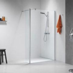Douche Concurrent Inloopdouche Sealskin Get Wet Impact Zijwand 100x195cm Chroom/Zilver Hoogglans Helder Glas
