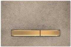 Geberit Sigma 50 bedieningplaat met dualflush frontbediening voor toilet 24.6x16.4cm messing / betonlook 115.672.JV.2
