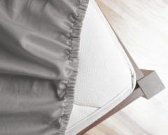 Primaviera Deluxe Hoeslaken Satijn Grijs-140 x 200 cm
