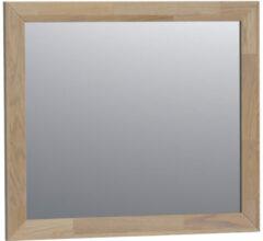 Grijze Saniclass Natural Wood spiegel 80x70x1.8cm rechthoek vingerlas Grey oak 30090