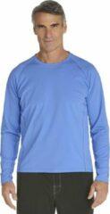 Coolibar UV zwemshirt lange mouwen Heren - Lichtblauw - Maat XL