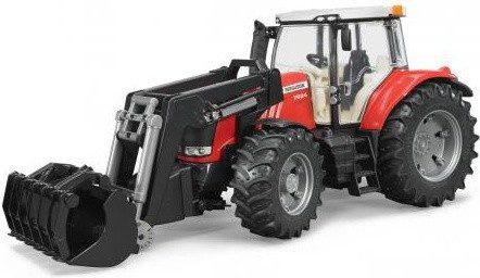 Afbeelding van Bruder 3047 Tractor Massey Fergusen 7624 Met Frontlader