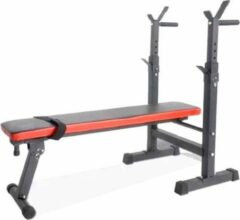 Merkloos / Sans marque Halterbank trainingsbank - Rood / Zwart - Max. 200 kg