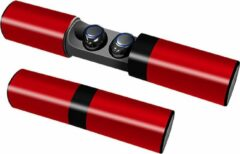 QY Bluetooth In-Ear TWS - Volledig Draadloze Oordopjes Met Oplaadcase - Rood