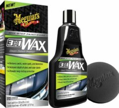 Meguiar's 3-in-1-Wax one step paint care 473 ml zwart