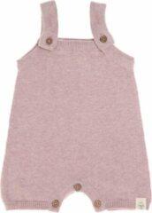 Roze Lässig baby gebreide Jumpsuit GOTS Garden Explorer light pink maat 50-56 voor 0 tot 2 mnd