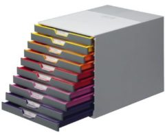 Durable VARICOLOR10 761027 Grijs DIN A4, DIN C4, Folio, Letter Aantal lades: 10