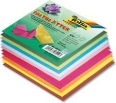 Folia Paper Vouwblaadjes Folia 70g/m² 10x10cm assorti pak à 100 vel