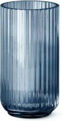 Lyngby Porcelæn Mondgeblazen Vaas Blauw H 20,5 cm