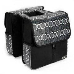 ABC-Led Bagagedrager tas- 14600 zwart/grijs patroon