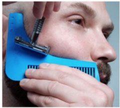 Blauwe Merkloos / Sans marque The beard shaper / baard accessoires / baard borstel/ vaderdag