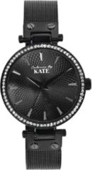 Lucardi Horloges - Colour By Kate horloge met mesh band en steentjes
