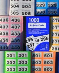 CombiCraft Dubbelnummers - lootjes - 6000 stuks