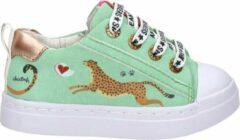 Shoesme mintgroene sneaker met luipaardprint (SH21S002-E). Maat 25