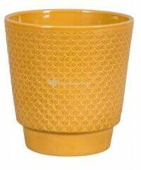NDT International Pot Odense Star Ochre S 13x14 cm okergele ronde bloempot voor binnen