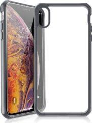 ITSkins Hybrid cover voor iPhone XS Max - Level 2 bescherming - Transparant/Zwart