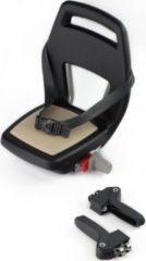 Qibbel 6+ Junior Fietsstoeltje Achter - Zwart met khaki kussentje