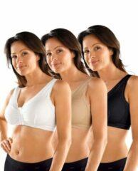 Huidskleurige Comfort-bh MedoVital set van 3 wit/zwart/huidkleur
