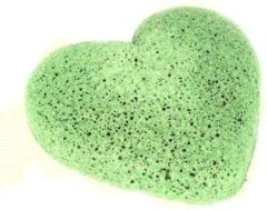 Naturaplaza Konjac spons groen tea groen hartje