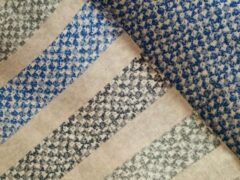 Blauwe Sofiben Budgetline dekbedovertrek met doorlopende rits over 3 zijden 260x220 dessin Azorra