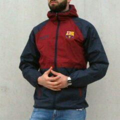 Bordeauxrode Sport Fashion FC Barcelona regenjas - volwassenen - maat S - bordeaux/blauw