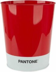 Balvi Afvalbak Pantone 10 Liter Tin Rood/wit