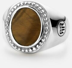 Rebel & Rose Rebel and Rose RR-RG017-S Ring Women Oval Tiger Eye zilver-bruin Maat 53