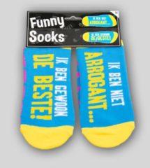 Paper dreams Paperdreams - Sokken - Funny socks - Ik ben niet arrogant.... Ik ben gewoon de beste!
